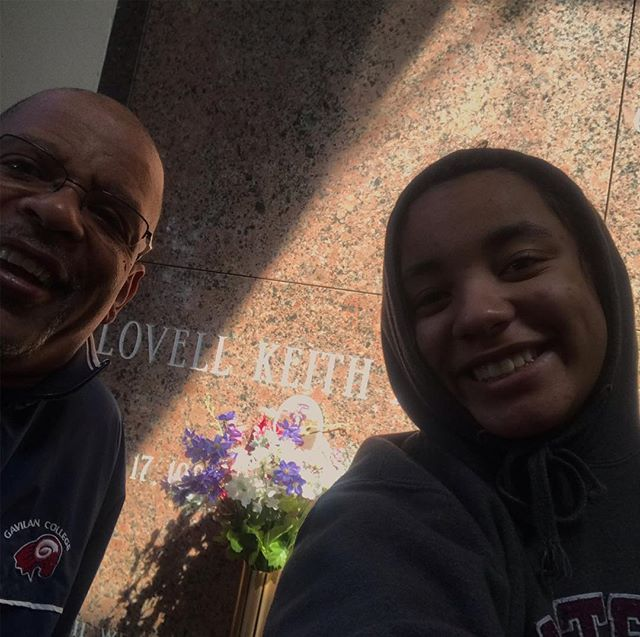Me and Kaia hanging out today 14 years wow time flies we miss Jr every day