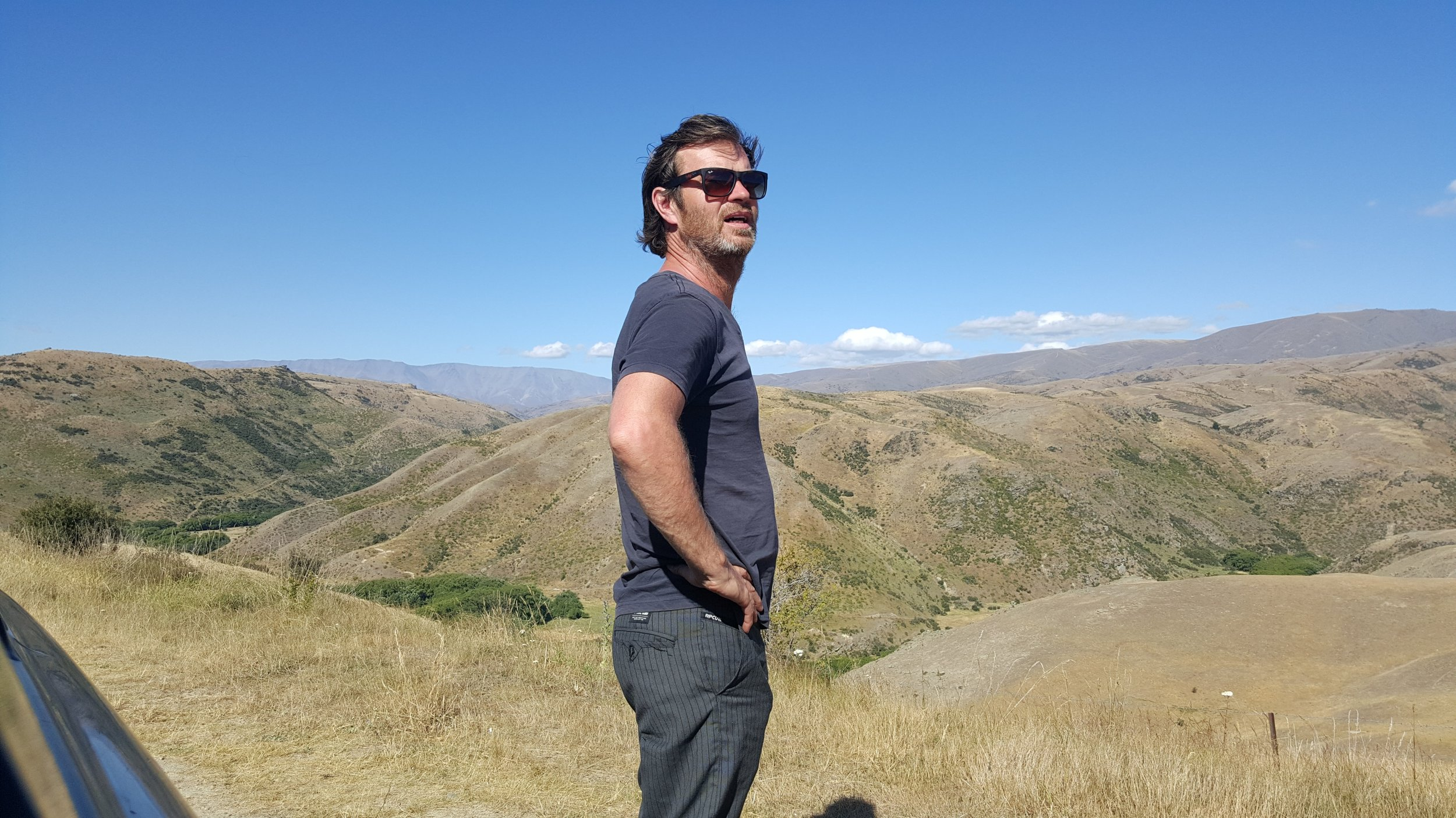Frank on location. Lindis Pass, South Island, New Zealand