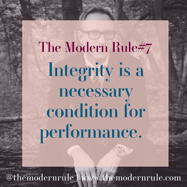"When we speak of Integrity at The Modern Rule we do not refer to the morality aspect of it. In our world doing things with integrity means a personal choice to hold one's self to consistent standards. While doing the dishes, working out or preparing a proposal for us it means ""no shortcuts"". Doing things with intentionality and focus.  To what end? The pursuit of the best outcome in each of your actions, increasing your respect for yourself while curating a life you feel proud of with the best possible results. This new model of integrity provides access to increased performance for individuals, groups, organizations, and societies. This model reveals the correlation between integrity and increased performance, quality of life and value-creation for oneself and others. According to Muel Kaptein, integrity is not a one-dimensional concept and at The Modern Rule is a personal choice and an approach to doing life. I can assure you that this rule is one that achieves incredible results and a deep sense of purpose in all aspects of your life.  This is a personal favorite.  Tag someone who has this approach in life. - - -  #inspirationalquotes #womenwhowork #girlbosslife #femaleentrepreneur #femalepreneur #womenintheworld #femalebusinessowner #womeninbiz #hersuccess #shemeansbusiness l#createyourhappy #mycreativecommunity #creativeminds #quoteoftheday #motivation #inspiring #happiness #quotestoliveby #themodernrule"