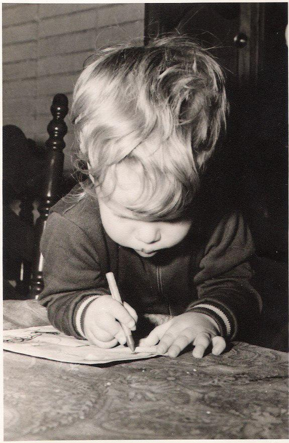 Ever since I could hold a crayon... - I've been holding crayons. Drawing, writing, and eating them. Nothing has changed really. To quote my father, I'm simply