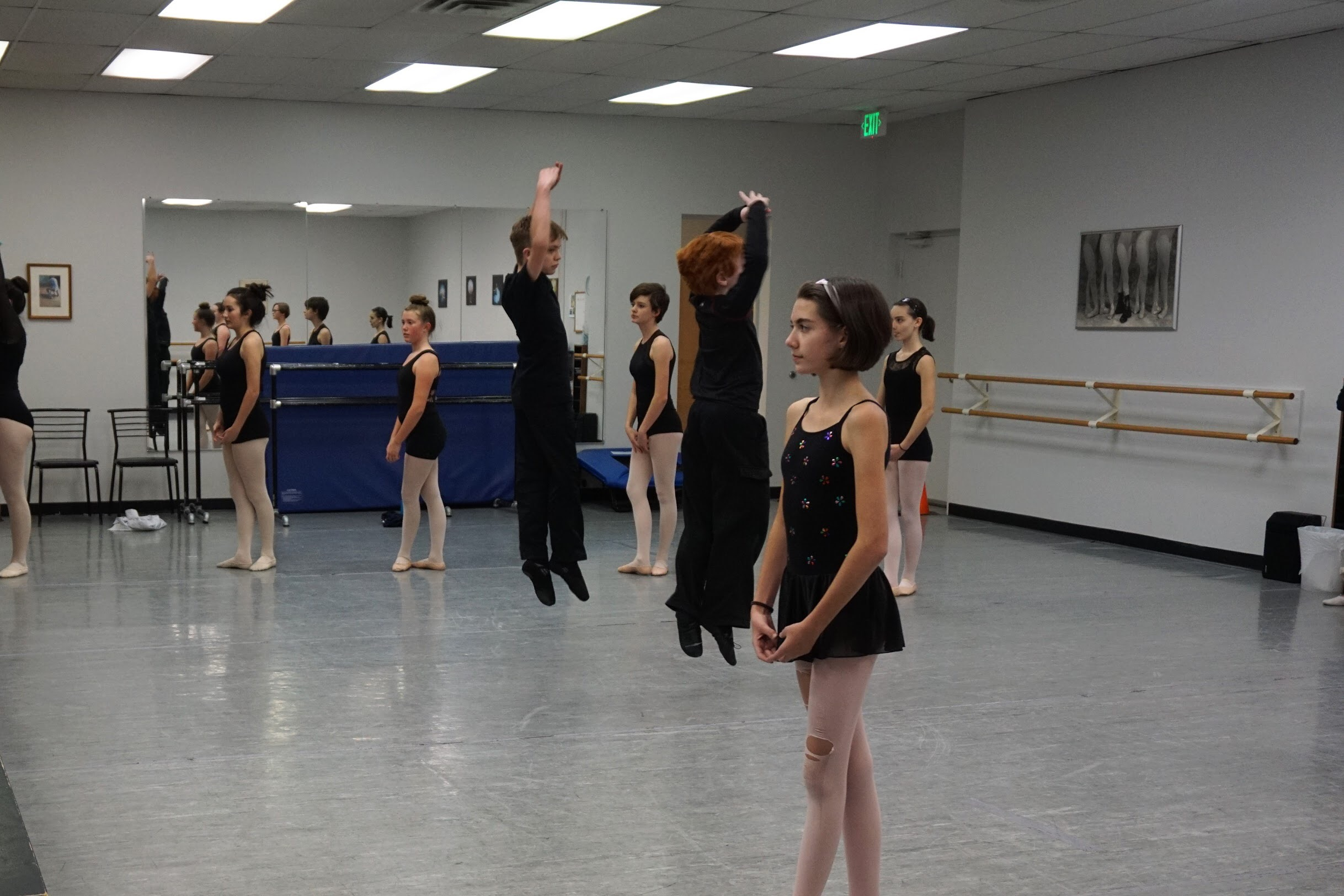 Ballet 3  Connor and Rowan jumping in the air!
