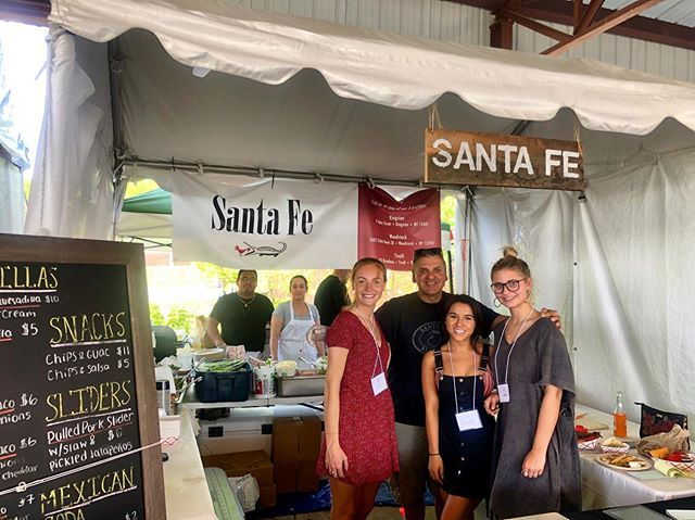 Come visit the Santa Fe booth for some delicious homemade Mexican food!💃🏼🌮☀️