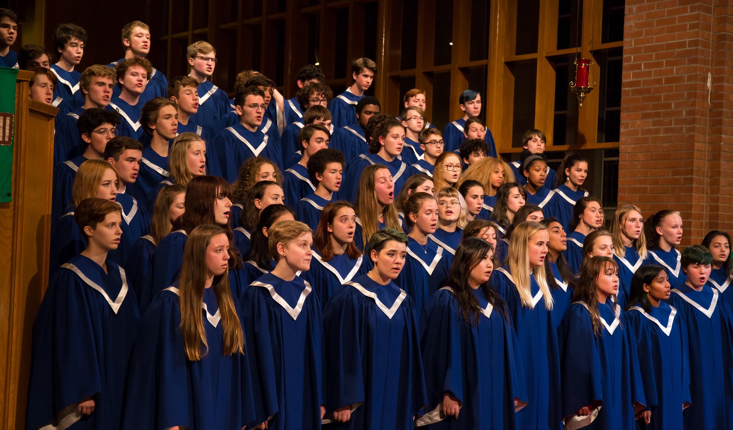 A Cappella at the 2017 Fall Concert.