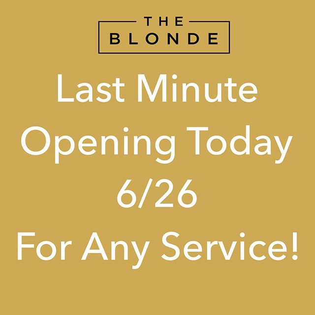 """Due to a last minute cancellation I have an opening today for any service. Contact me for details or book on your own by clicking the """"book"""" button on my page. . . . #coralgableshairsalon #coralgablessalon #miamibalayage #miamihairstylist #balayagemiami #miamihair #southmiamihairsalon #miamihairsalon #shopcoralgables #miamihairstylists #coralgableshair #coralgablesmiami @tbtbsalon"""