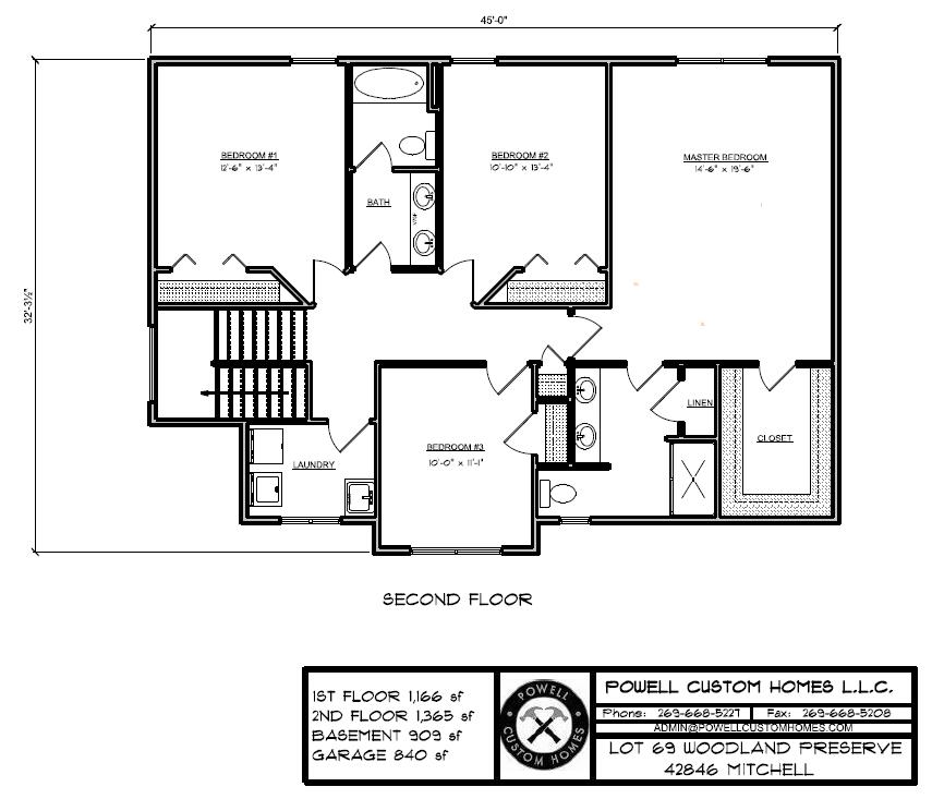 Lot 69 Floor Plan - 2nd Floor