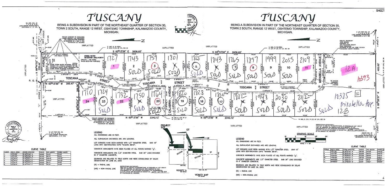 Tuscany Plat Map