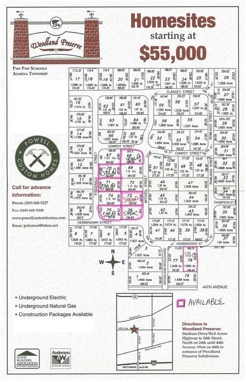 Woodland Preserve Plat Map 5.28.19