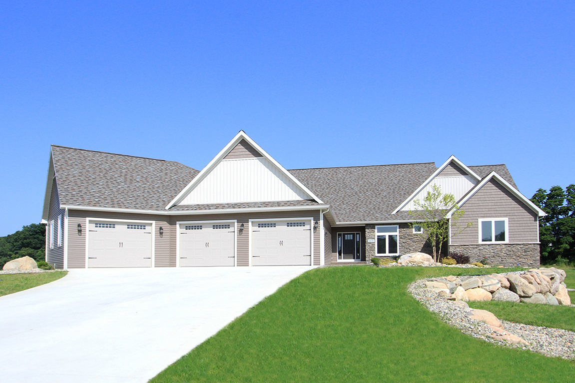brand new custom home by Powell Custom Homes