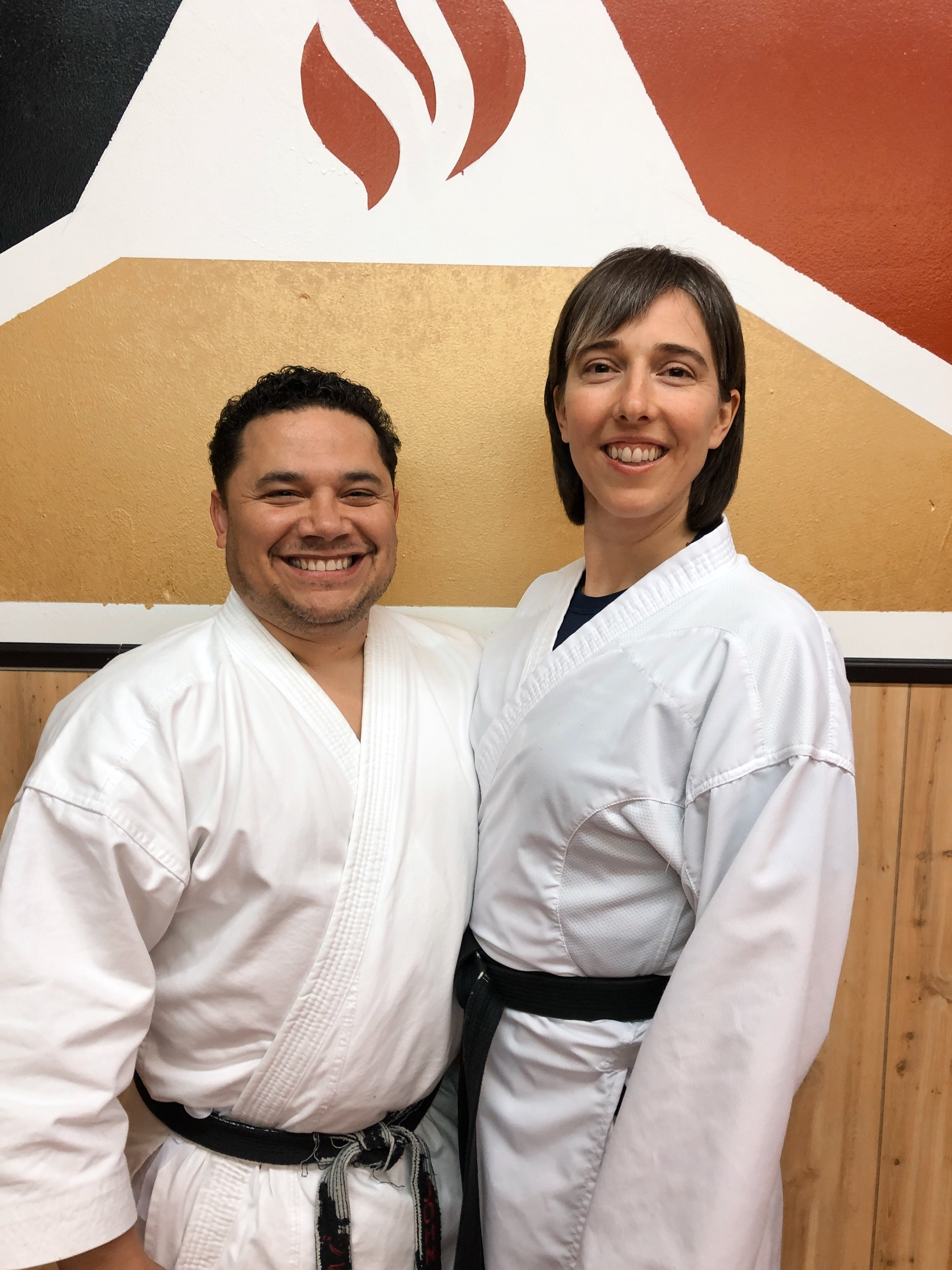 Mike and Sarah Franco at the Richland Dojo