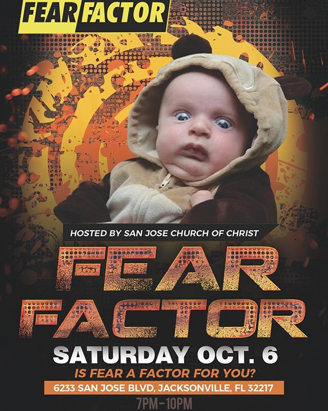 7-10. Saturday. Is fear a factor for you? Bring a friend.