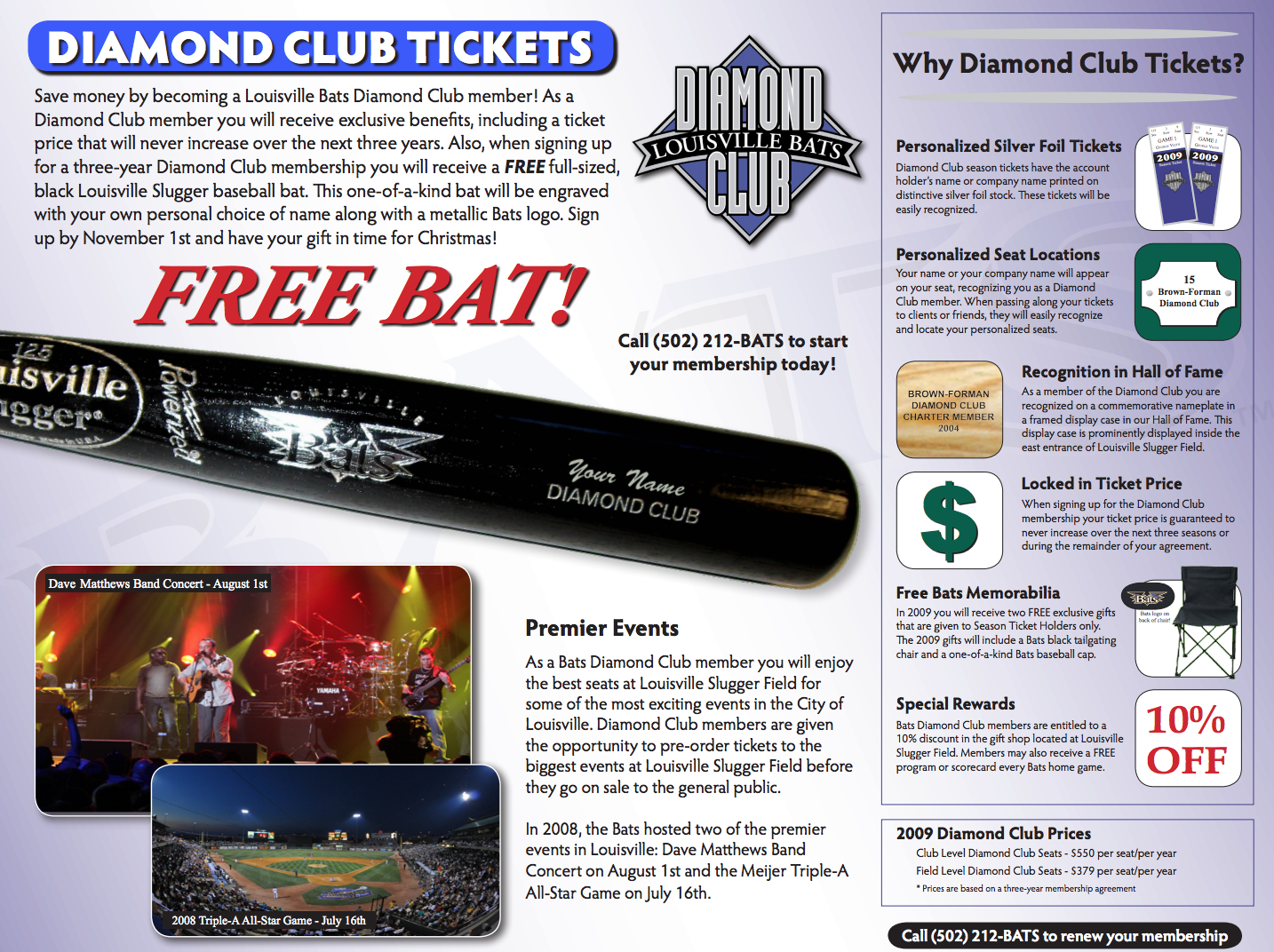 Louisville Bats Brochure - Photos by C Michael Stewart