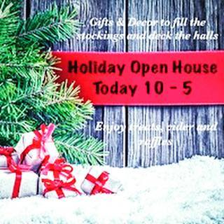 Christmas is around the corner and today we celebrate the season with our annual Holiday Open House.  Join us from 10am to 5pm and gather up some fabulous comforts that are sure to make the holidays merry and bright🎄 . . . . . #merrychristmas #farmhousechristmas #tistheseason #holidayopenhouse #seasongreetings #countryliving #countrychristmas #shopsmallbusiness #shoplocal #farmhousecomforts