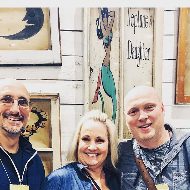 So fun spending time with Mike @ageofindustryanddesign picking out some beautiful art pieces for our store @farmhousecomforts and spring market.. very excited!  #vintageart #barnhousechicksmarket  #vintage  #vintagedecor  #shopping  #shopvintage