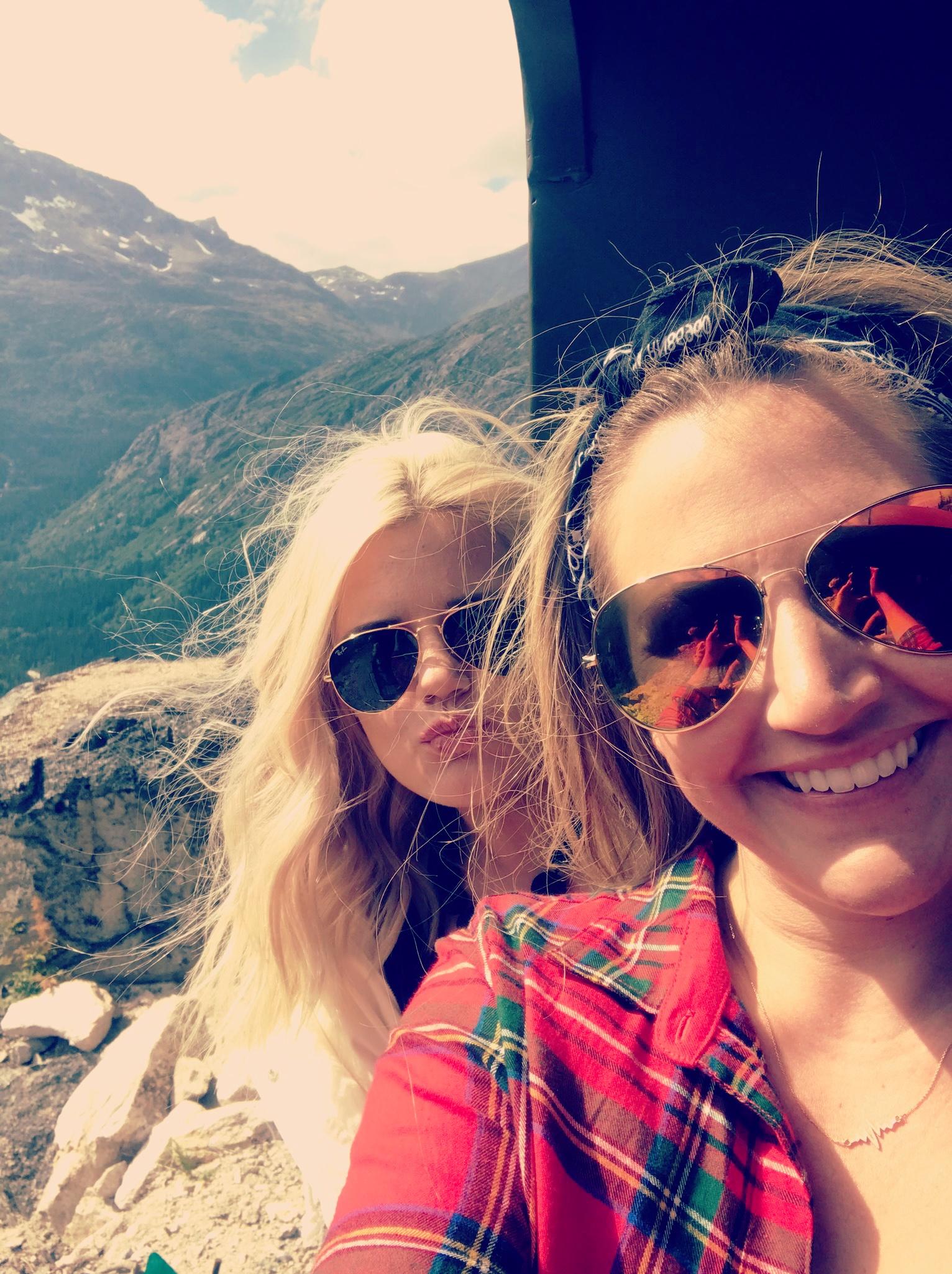 Britt and her sister, Jen.