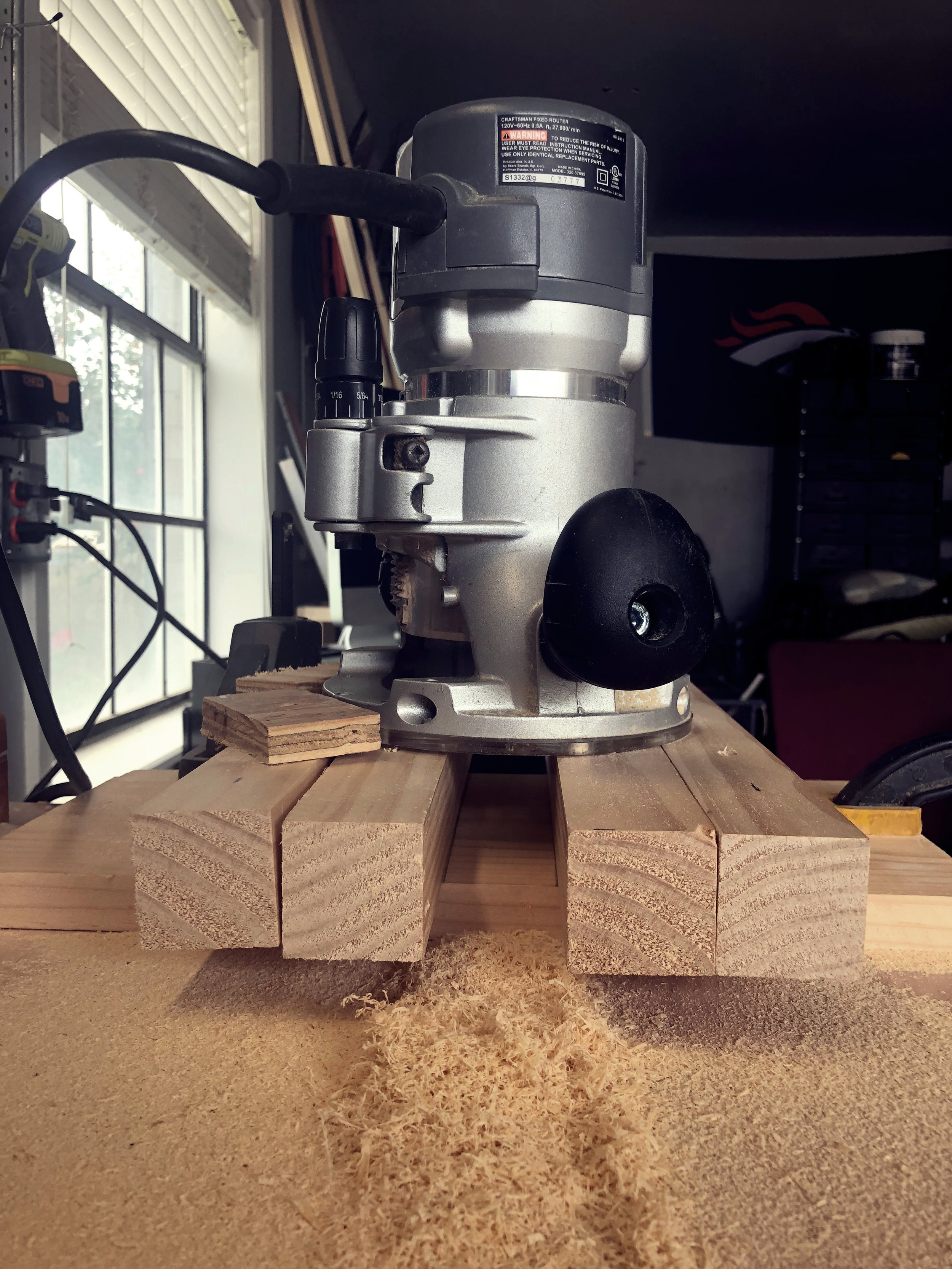 Router jig. Ugly but effective.
