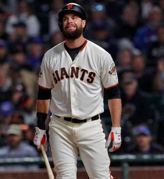 Brandon Belt should not have swung at that.