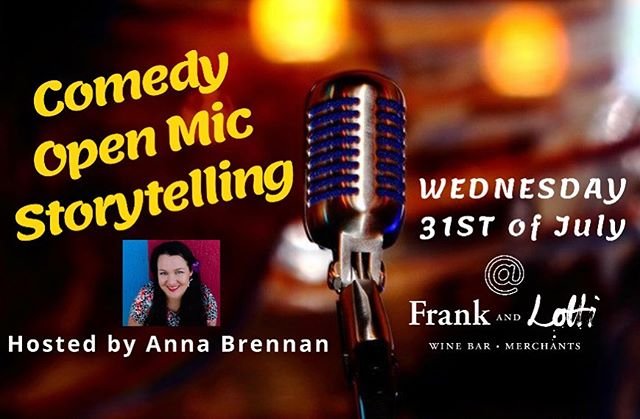 Open Mic Storytelling Night @frankandlotti ! Wed 31/07 Come see our local comedians drop in to test out their new material, as well support someone about giving stand-up storytelling a try! With free entry, it's always a fun night, even better with happy hour from 5pm! Want to give it a go? Message us or send an email to bookings@frankandlotti.com.au It's out from 6:30pm, everyone who signs up gets on! The show starts promptly and seating is limited, so be sure to book you table! . . #frankandlotti #openmic #storytelling #night #mooloolaba #sunshinecoast