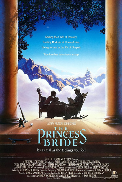 - Release date: Sept. 25, 1987Based on: The Princess Bride (1973 novel by William Goldman)Directed by: Rob ReinerStarring: Carey Elwes, Mandy Patinkin, Chris Sarandon, Christopher Guest, Wallace Shawn, Andre the Giant, Robin Wright, Peter Falk, Fred Savage, Billy CrystalBudget: $16 millionBox office: $30.9 millionIn a storybook narrated by a man to his sick grandson, a farmhand named Westley must save his true love Buttercup from Prince Humperdinck.