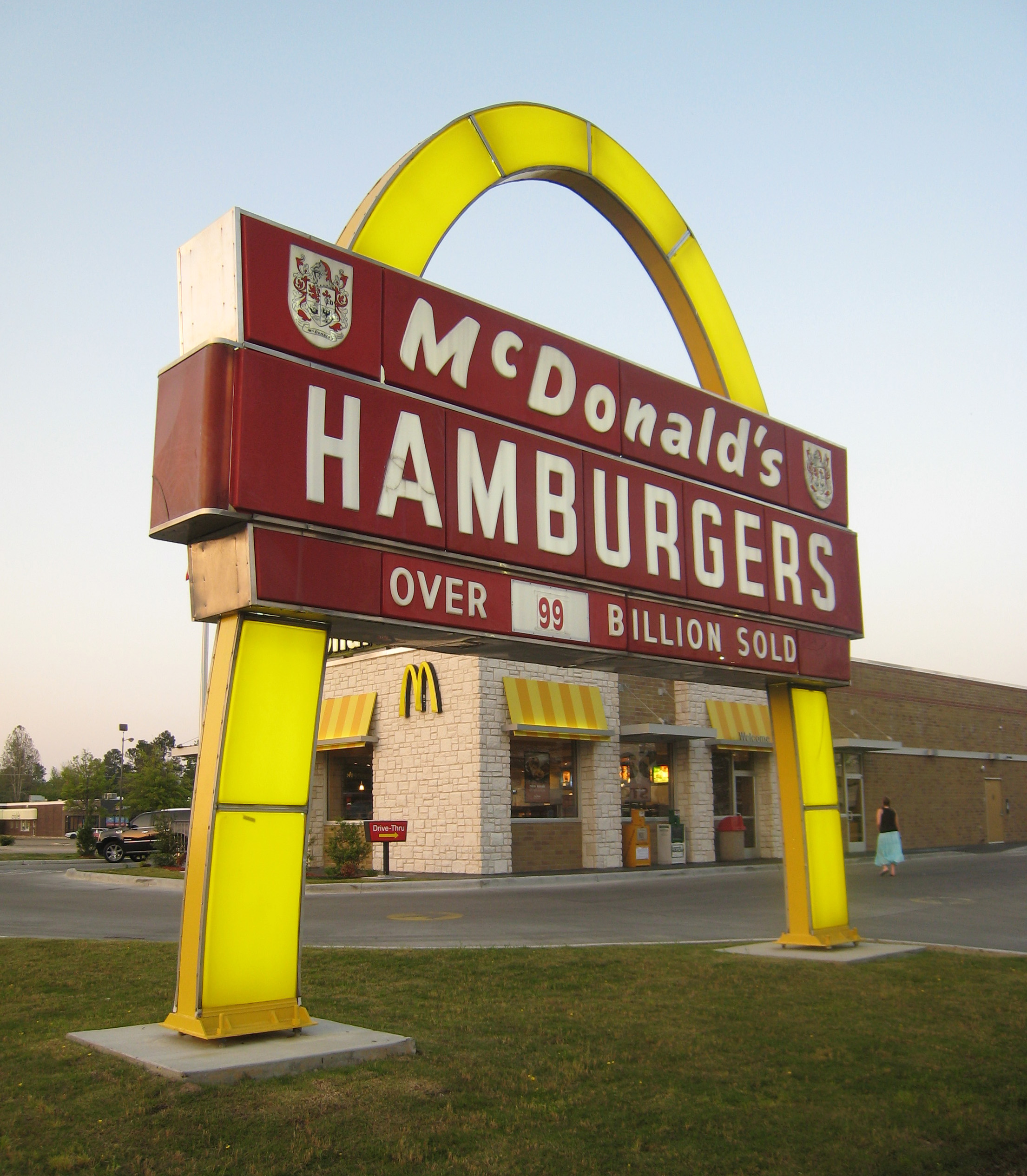 McDonald's with 1960s sign