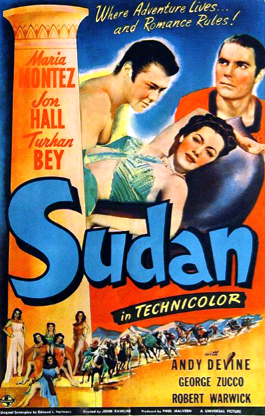 - Release date: April 18, 1945Directed by: John RawlinsStarring: Maria Montez, Jon Hall, Turhan Bey, Andy DevineBudget: n/aBox office: n/aAfter the death of her father, the young Naila becomes queen of the ancient Egyptian kingdom of Khemis. However, she is captured and enslaved and must find her way back to the throne.