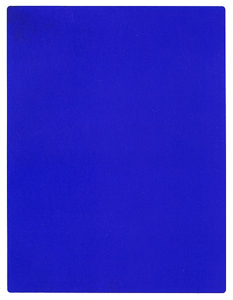 Monochrome painting by Yves Klein