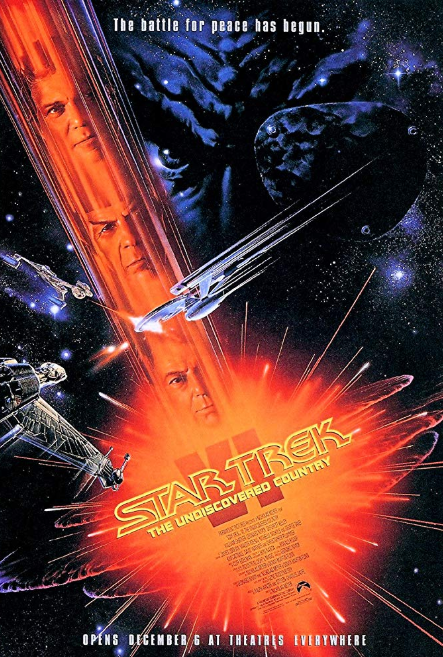 - Release Date: Dec. 6, 1991Based on: Star Trek (television series created by Gene Roddenberry)Directed by: Nicholas MeyerStarring: William Shatner, Leonard Nimoy, DeForest Kelley, James Doohan, Walter Koenig, Nichelle Nichols, George Takei, Kim Cattrall, David Warner, Christopher PlummerBudget: $27 millionBox office: $96.9 million Captain Kirk is volunteered to escort the Klingon leader to peace talks and becomes part of a sinister conspiracy.