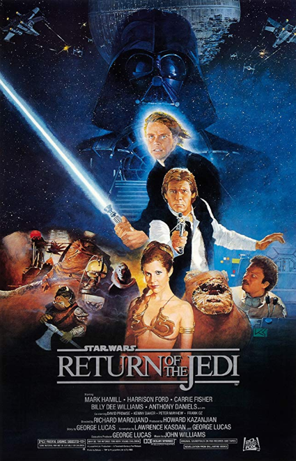 - Release date: May 25, 1983Directed by: Richard MarquandStarring: Mark Hamill, Harrison Ford, Carrie Fisher, Billy Dee Williams, Anthony Daniels, David Prowse, Kenny Baker, Peter Mayhew, Frank OzBudget: $32.5-42.7 millionBox office: $475.1-572.7 million The rebellion regroups to destroy an even more powerful superweapon as Luke Skywalker moves closer to his destiny.
