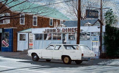 """""""John's Diner"""" by John Baeder"""