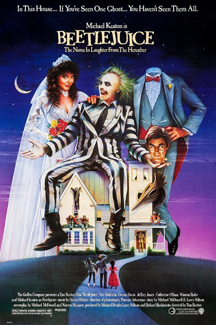 - Release date: March 30, 1988Directed by: Tim BurtonStarring: Alec Baldwin, Geena Davis, Jeffrey Jones, Catherine O'Hara, Winona Ryder, Michael KeatonBudget: $15 millionBox office: $73.7 millionRecently deceased young couple Barbara and Adam Maitland become ghosts, haunting their former home and attempting to scare away the new residents.