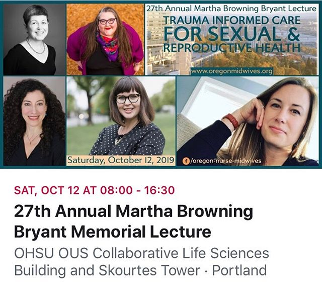 Just a few days left to register at the Early Bird Rate! This year's topic is Trauma Informed Care for Sexual and Reproductive Health. CEUs offered.  Topics include: Terri Peterson, MD - Overview of Trauma Informed Care.  Shiloh George, MS: Introduction to Race-Based Trauma.  Stephanie Tillman, CNM @feministmidwife - Trauma-Informed Pelvic Care.  Fawn McCool, LCSW - Interpersonal Neurobiology of Birth and NICU Trauma Catherine Polan Orzech, MA, LMFT - Mindfulness & Trauma Resilience for Providers