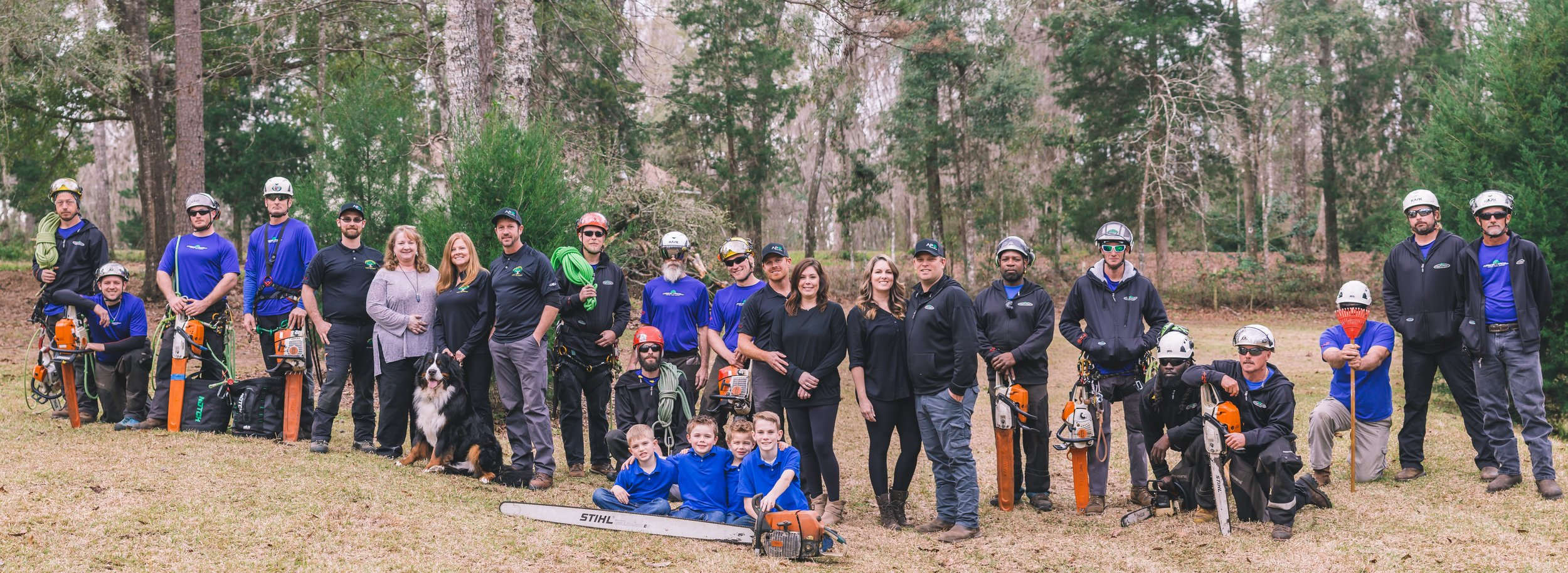tree service in Tallahassee team of tree workers and Arborists