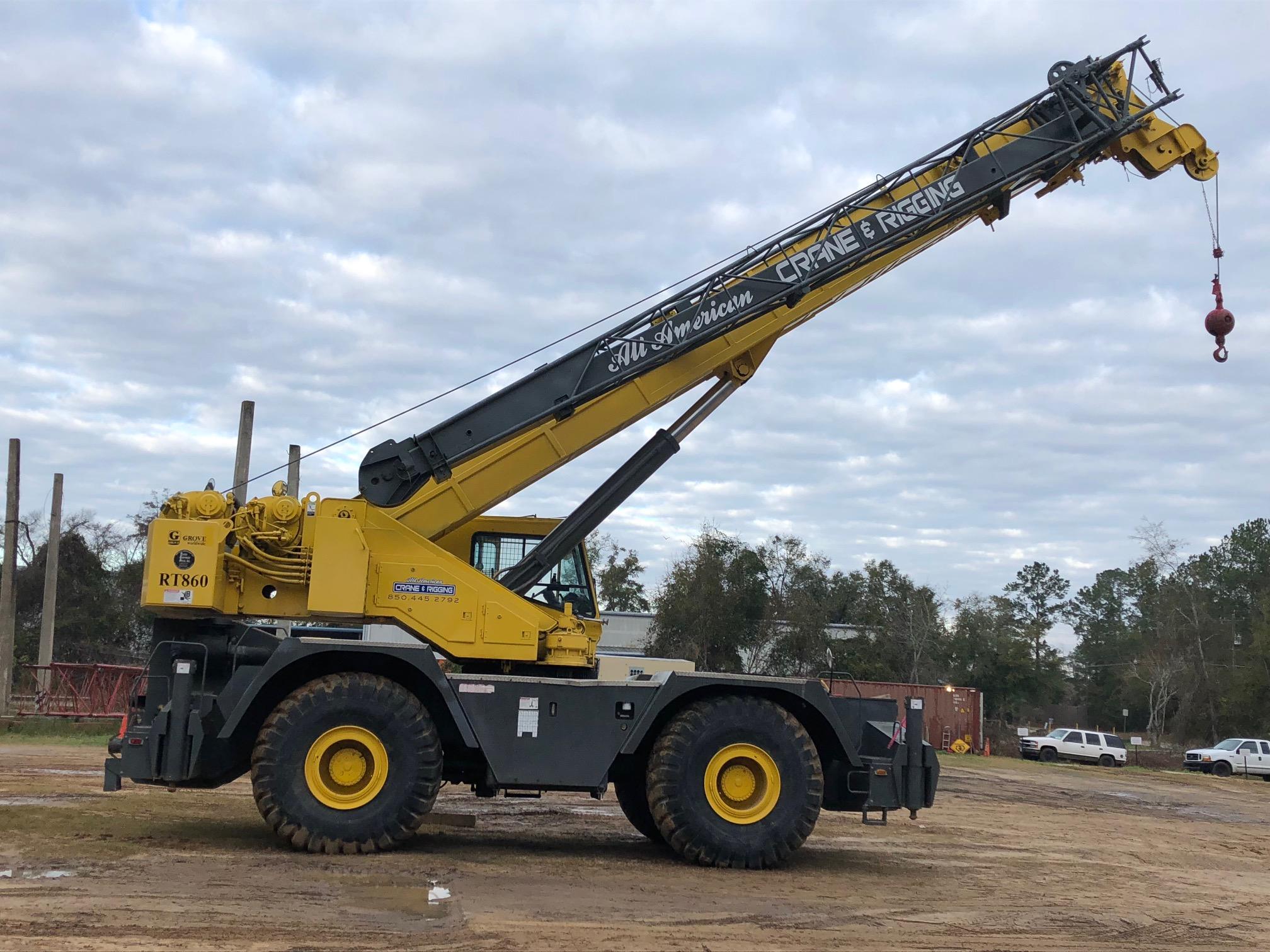 60 Ton Rough Terrain Crane