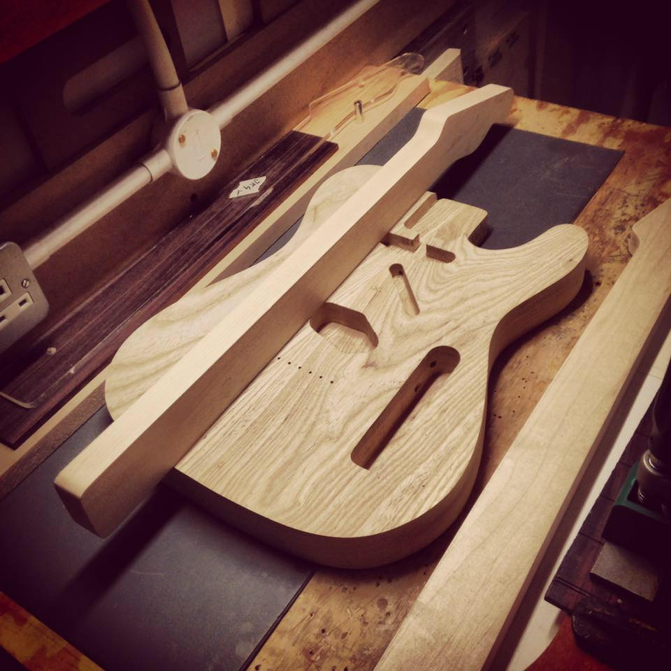 Southern swamp ash and Canadian maple neck blank
