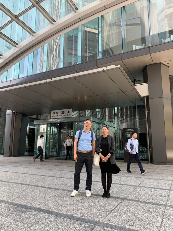 Our team conducting the inspection in Tokyo, Don (Left) and Latifa (Right)