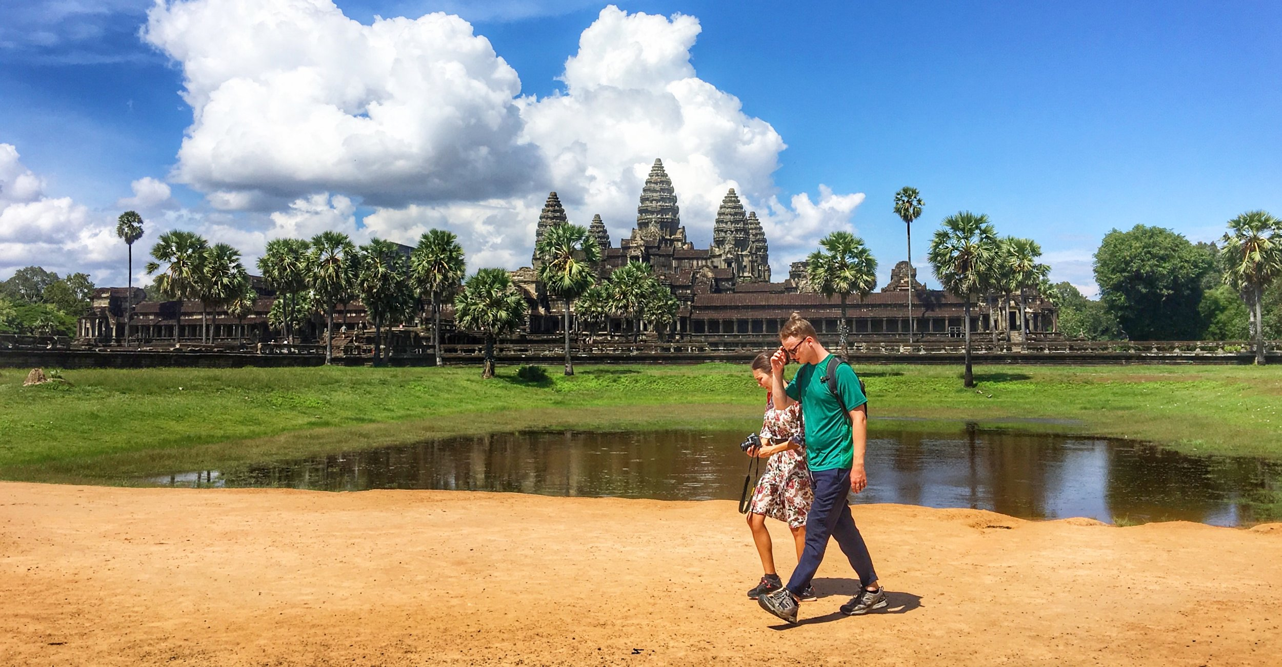 Avoiding crowds  at Angkor Wat   Learn more→