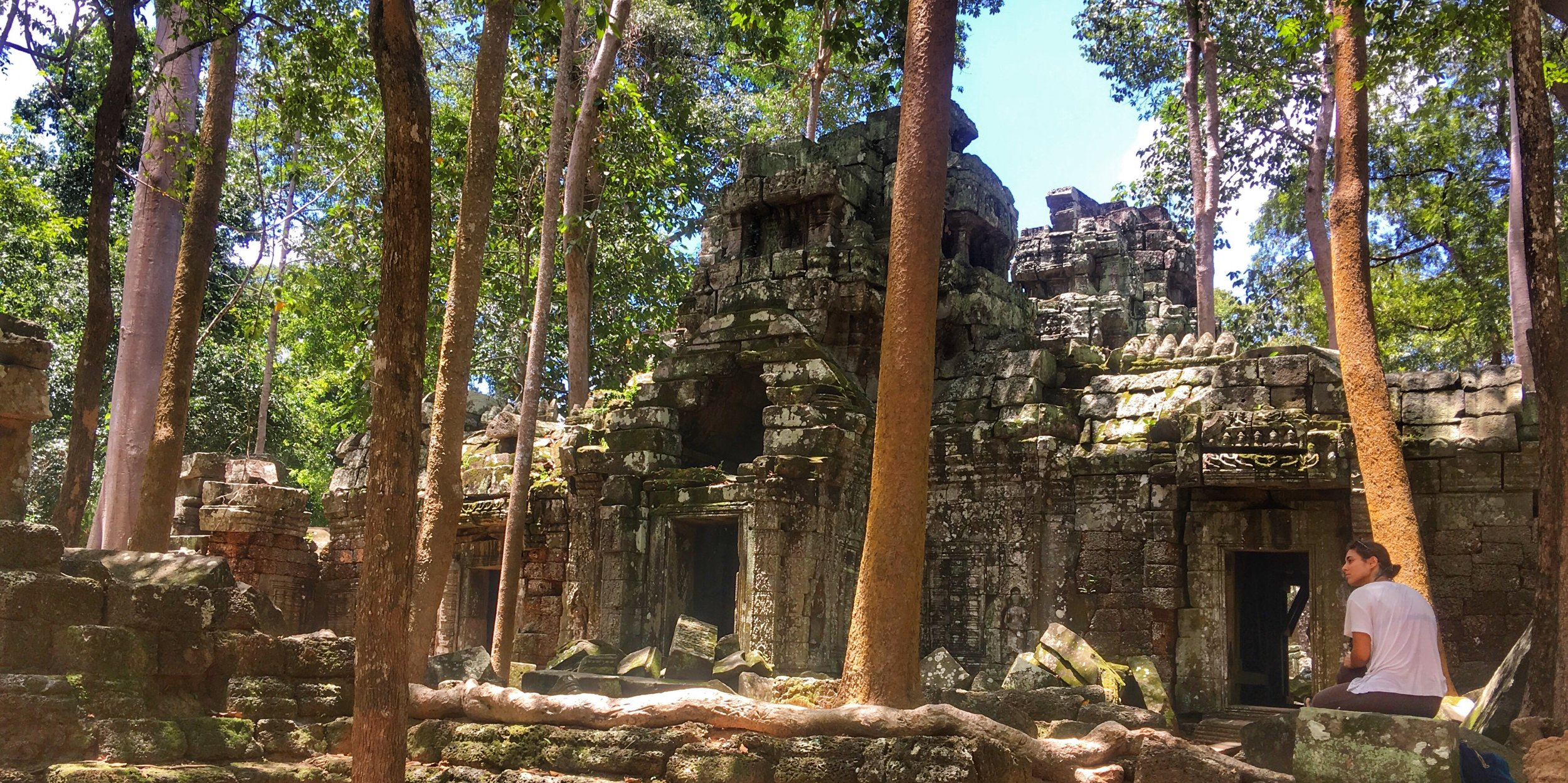 Enjoying temples in the   middle of  jungle    Learn more →