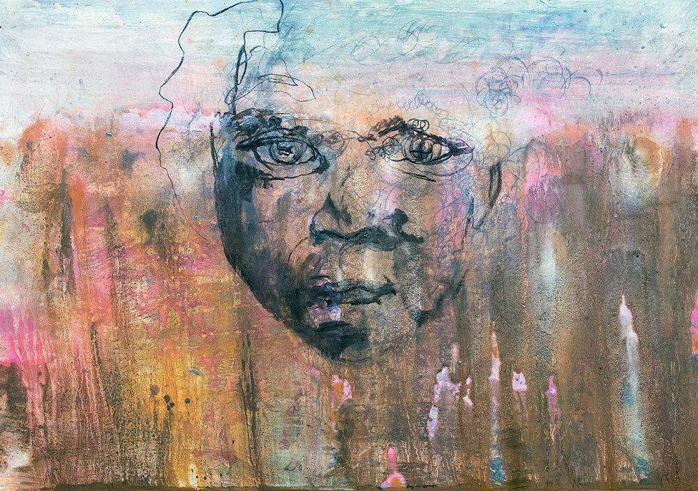 The Child . Mixed Media On Board.70 x 120