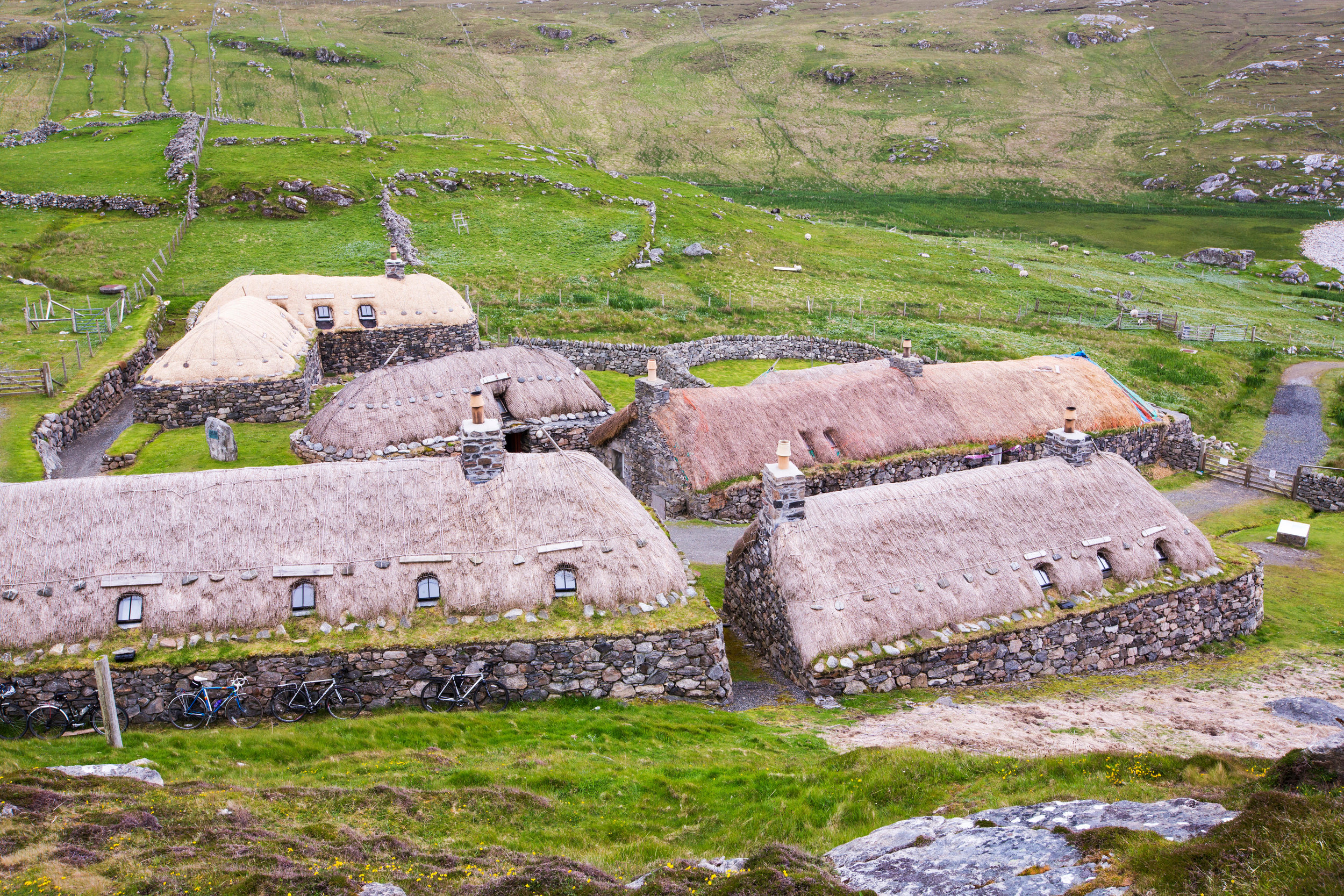 Fig 1. Gearrannan, preserved clachan on the Isle of Lewis. Photograph by Ashley Cooper
