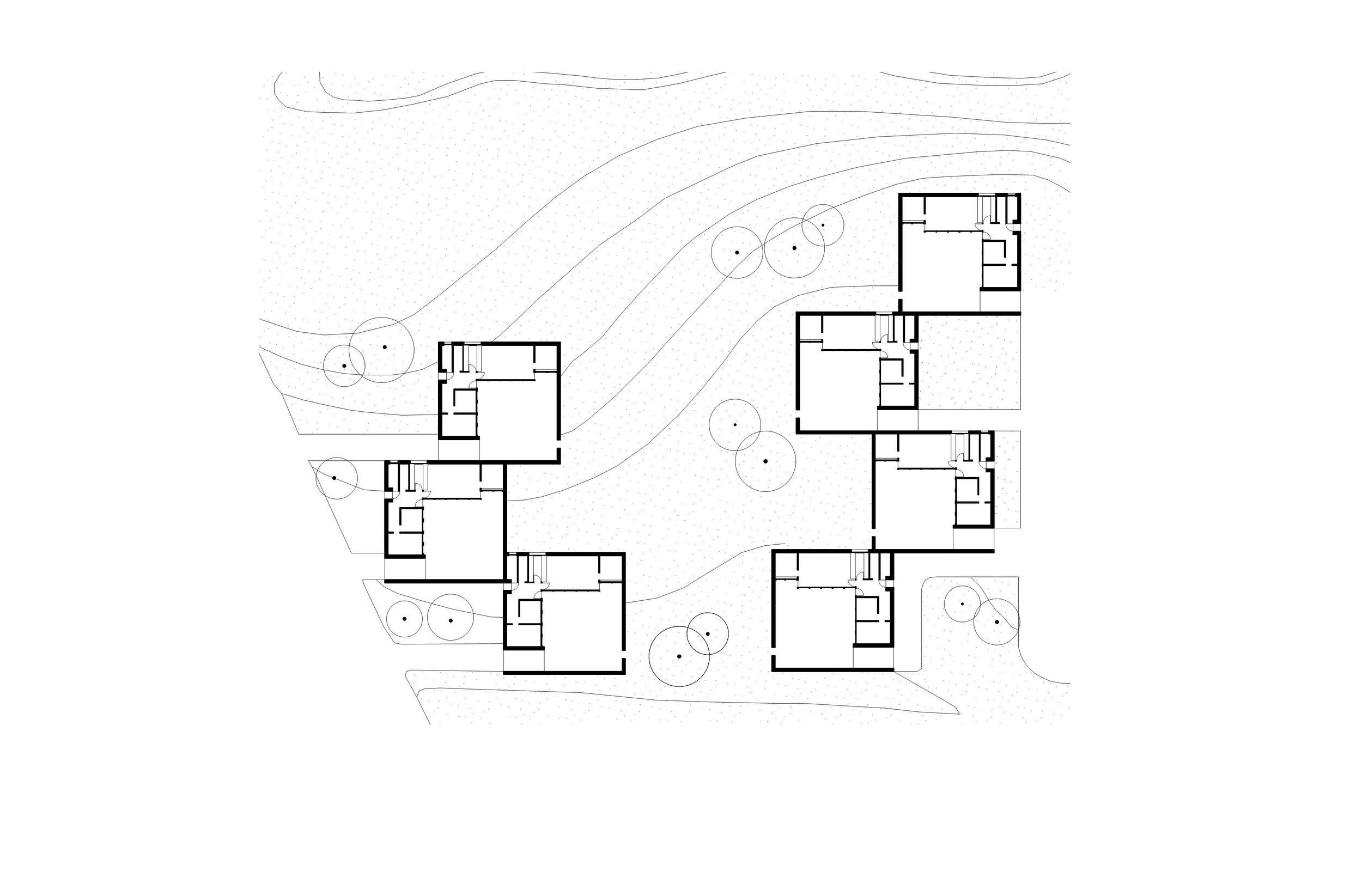 Fig 6. Kingo Houses, Helsingør, Denmark, Jørn Utzon. Author's own drawing
