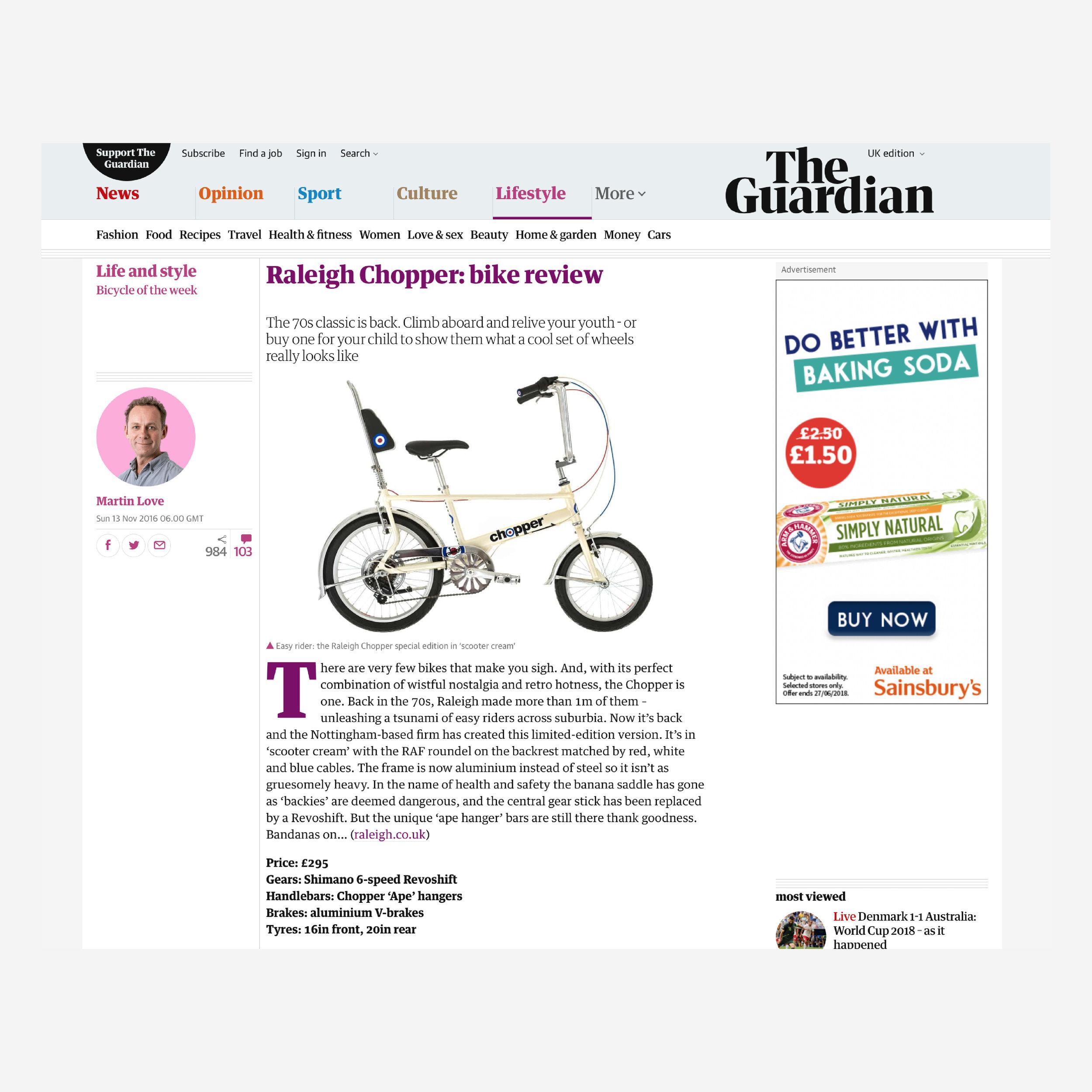 Raleigh Chopper — Graphic Output