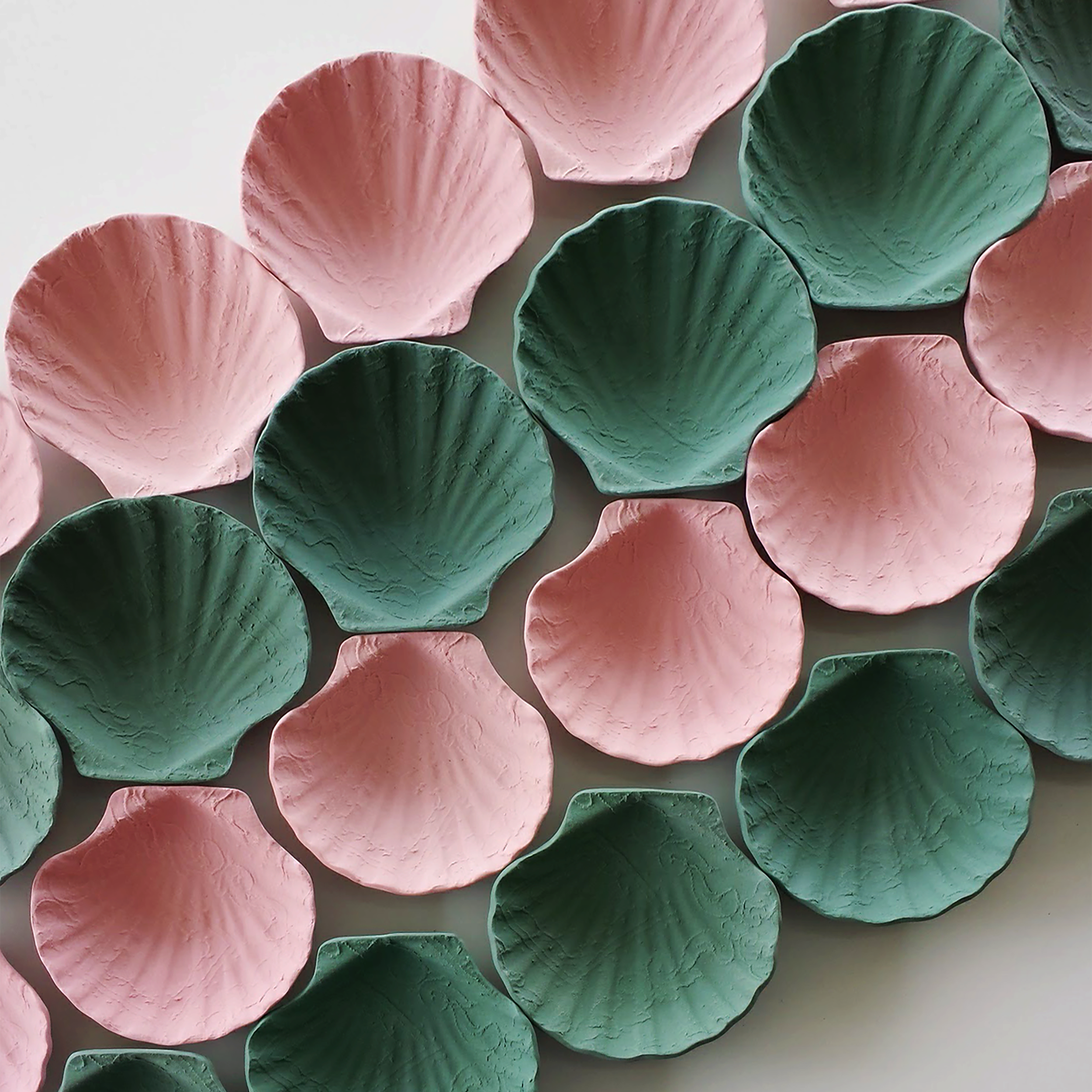 FRENCH SHELL - - COLOURED STONEWARE AND PORCELAIN
