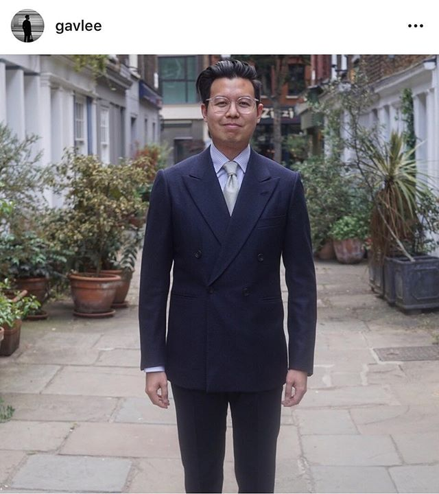"""Gavan has just completed the Bespoke Tailors Certificate with us at Savile Row Academy. Well done on your first bespoke suit Gavan ✂️ ・・・ #Repost @gavlee ・・・ About 2 years ago, I made the decision to swap the calculator for a needle and thimble and leave a 10 year finance career to pursue a new career in tailoring.  For the last 18 months, I've had the privilege to be given the opportunity to train on Savile Row. It has been truly incredible to be able to soak in generations of knowledge and to meet some remarkable people in the process. Now that training has finally come to an end.  But after countless basting, padding, back stitching, prick stitching, cross stitching, felling, unpicking and resewing, I can show you the fruit of my labour. My first bespoke suit!  I've had my ups and downs. I did a 6 day week to make this happen. I had lots of doubts. However the support of family, friends and colleagues both in London and in Australia has helped me get through it. My biggest advocate though has been my """"tailoring widow"""" @c_for_claudia - she's been with me through the entire process from start to finish and has sacrificed a lot for me to make this career change happen. This suit is dedicated to all of you (although it'll only fit me). If there is one message I want to get across it's this - you're never too old to follow your dreams and change your career. Surround yourself with the right people who are willing to journey with you. Humble yourself, work hard and listen to those around you. Follow the wise counsel of Shia LaBeouf and """"JUST DO IT!"""". It hasn't been easy but I can honestly say it has been one of the best decisions of my life.  The career change isn't complete, in fact it's really just the beginning."""