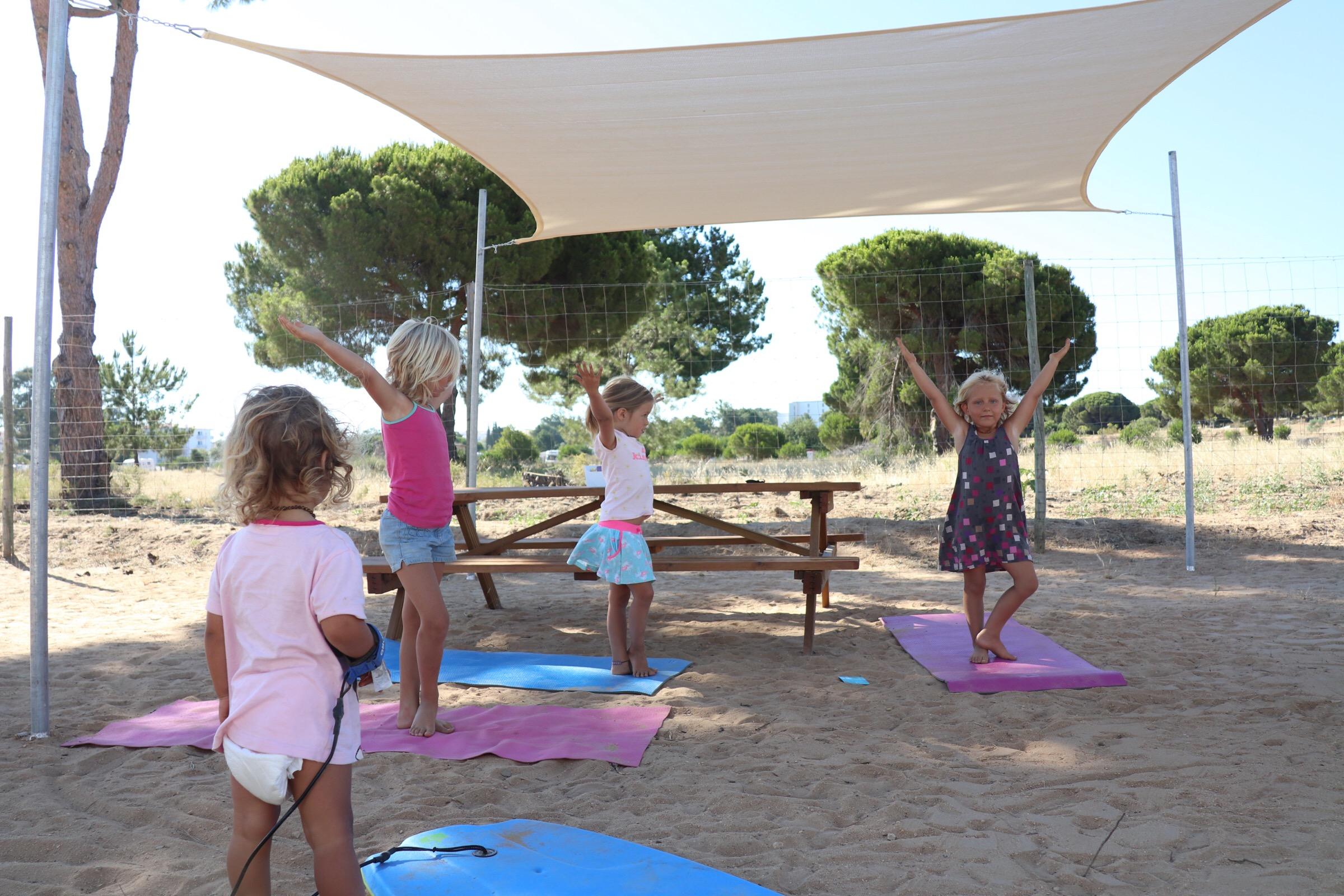 Yoga ontmoeting met de Engelse vrienden