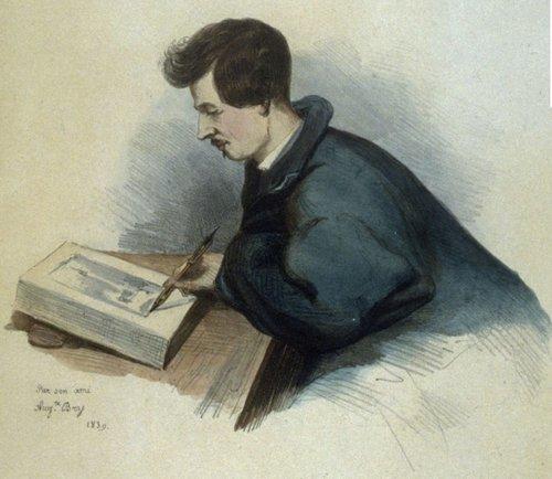 Портрет Раффе в процессе создания альбома Путешествие в Южную Россию и Крым   Огюст Бри (1839)