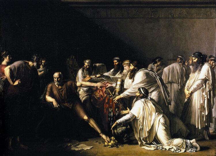 Анн-Луи Жироде-Триозон. Гиппократ отказывается от даров Артаксеркса. 1792