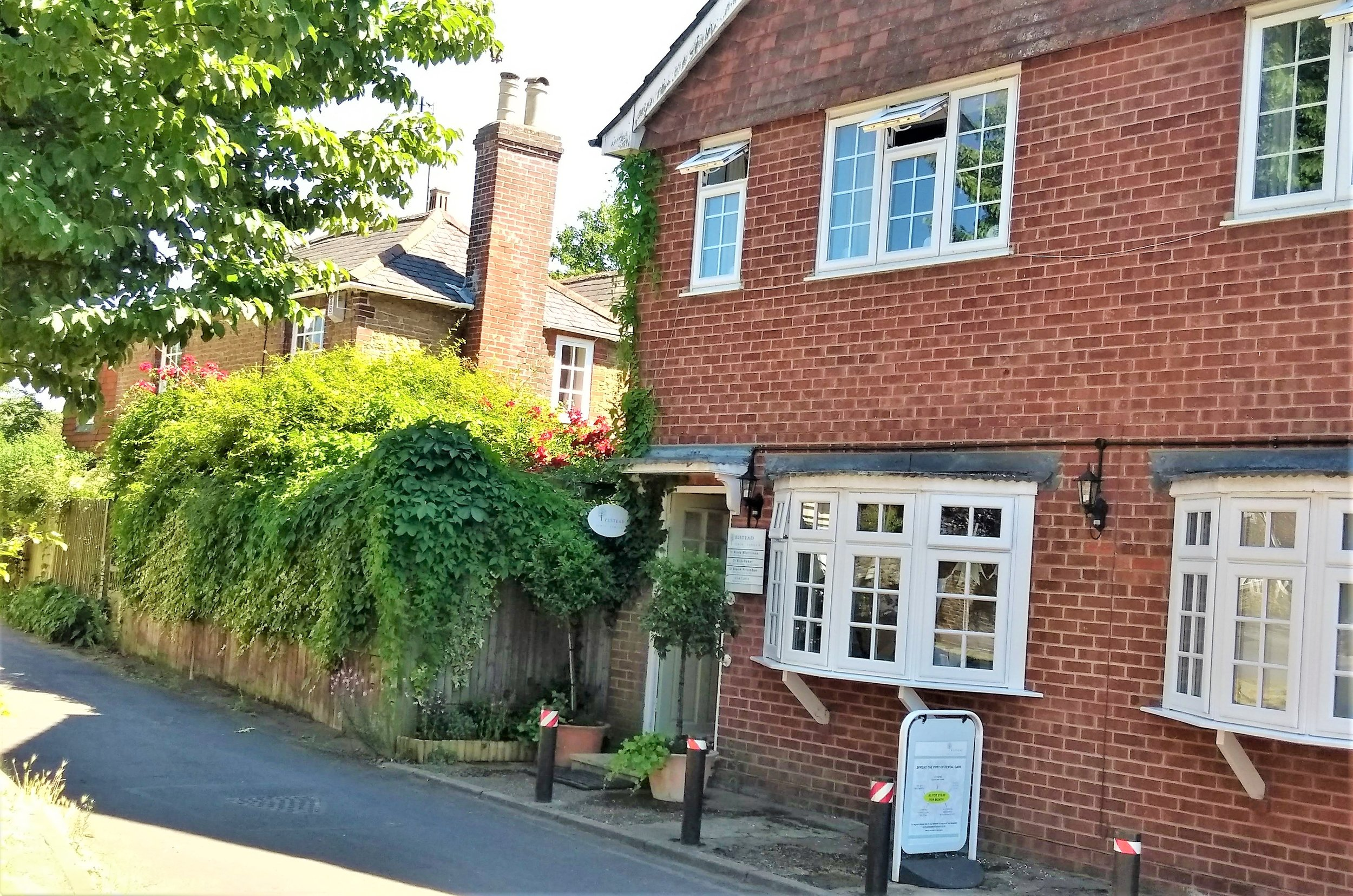 We are located in the heart of Elstead village, by the village green.Parking is available around the green. -