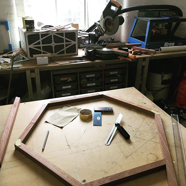 Measuring and cutting for some new outdoor sculptures . . #contemporaryart #contemporarysculpture #inthestudio #wip #sculpturegarden #sapele #ilovemytools