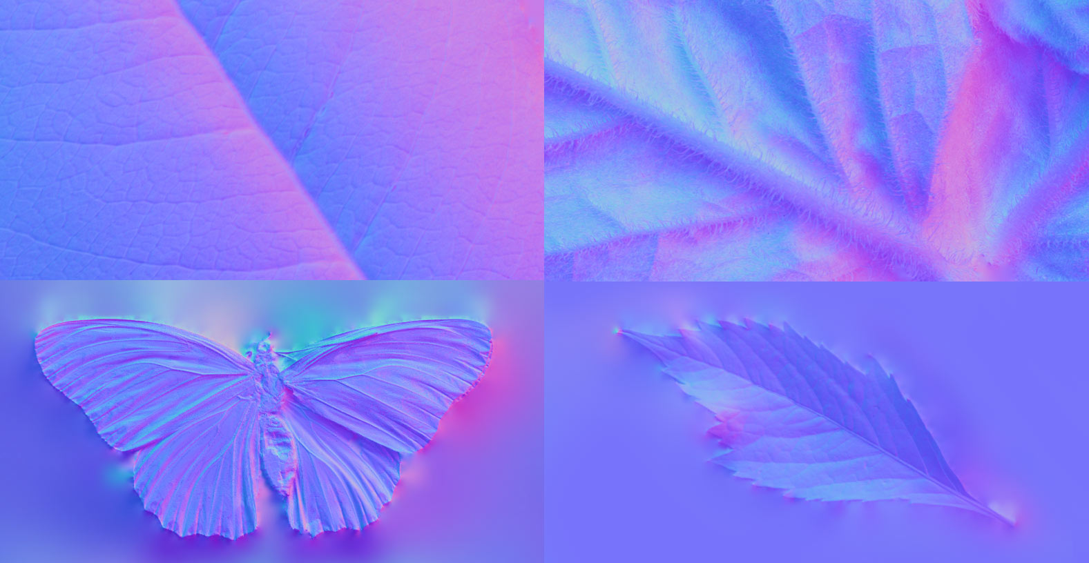 Leaves, flowers, bark and butterflies. Because who doesn't love butterflies?