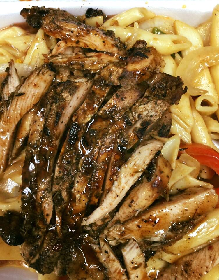 JERK CHICKEN BREAST RASTA PASTA