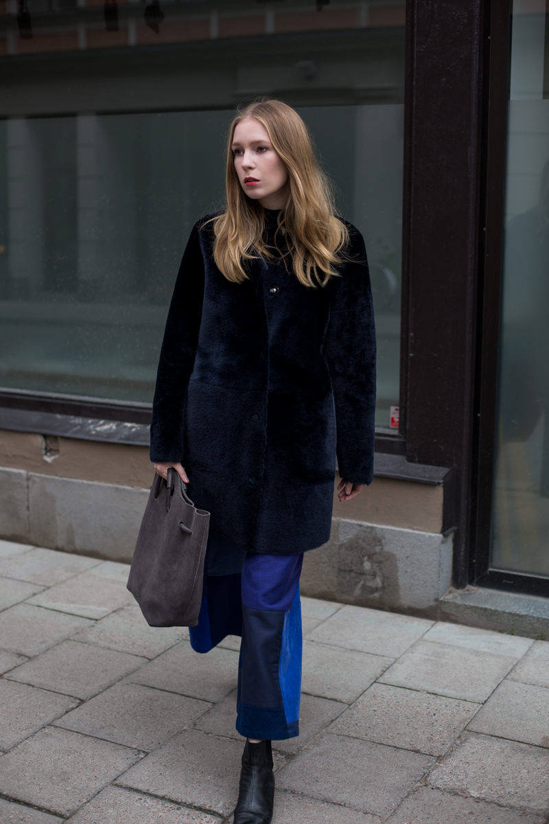 gant shearling jacket